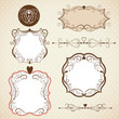 Set of frames, ornamental design elements