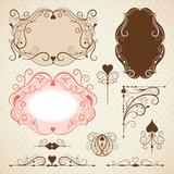 Set of frames, ornamental design elements