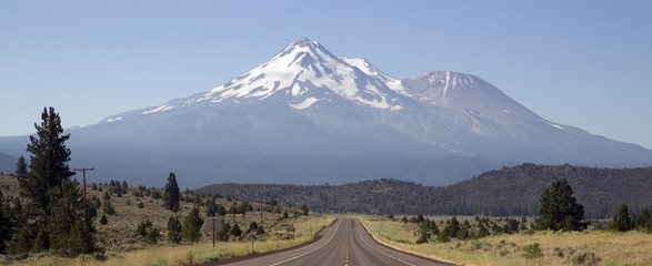 Road to the Wilderness of Mount Shasta California