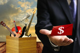 Music shool make benefit to investor poster