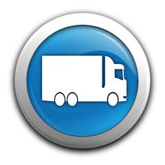 camion sur bouton bleu
