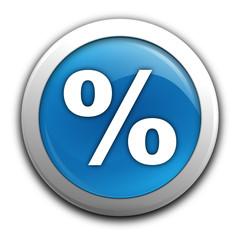 pourcentage sur bouton bleu