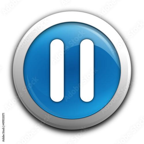 pause sur bouton bleu