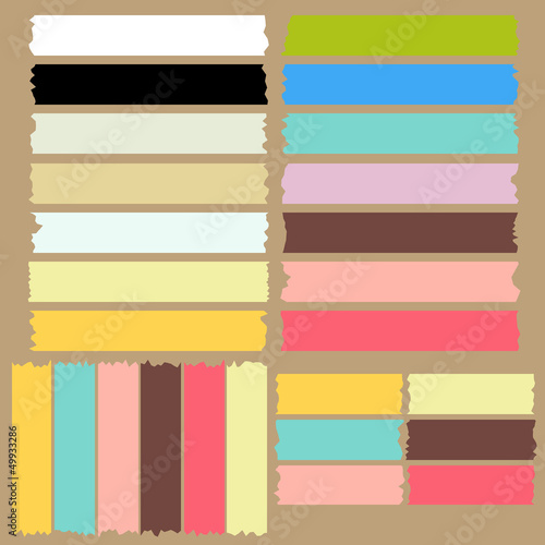 colorful masking tape set vector