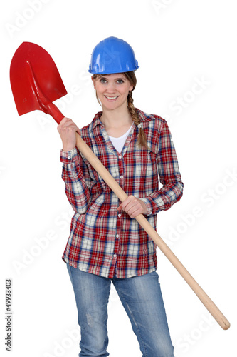 Woman wearing hard hat