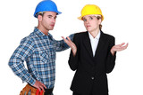 Upset worker and architect
