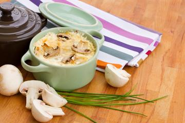 mushroom julienne casserole dish