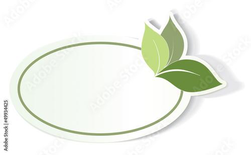 étiquette bio, label écologique vide, sticker vert