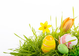 easter decoration green grassland - Fine Art prints