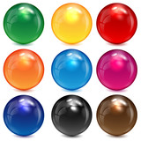 Fototapety set of colored spheres on a white background