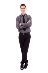 Young businessman in full length