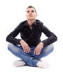 Cross legged man sitting on the floor
