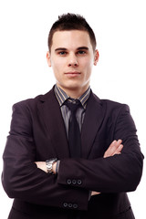Businessman in closeup pose