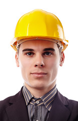 Young engineer in hard hat