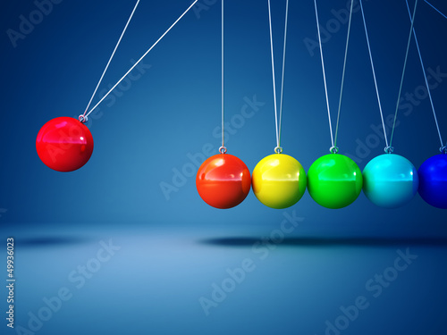 rainbow newton cradle