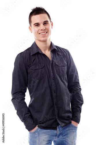 Closeup of casual young man