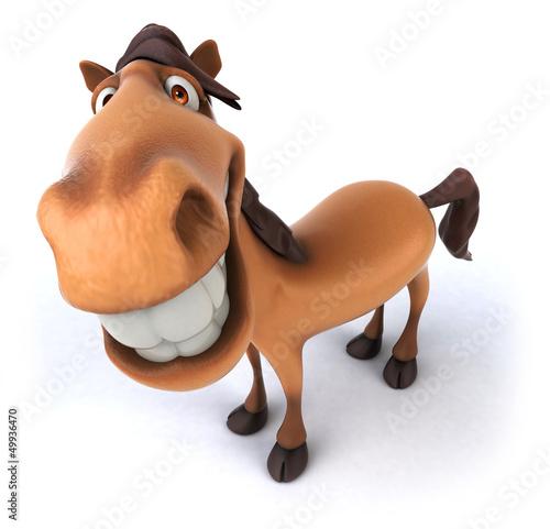 Foto op Canvas Boerderij Fun horse