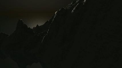 Kliff bei Mondlicht
