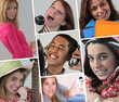 A collage of adolescents