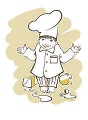 image of little boy, who want to be a great chef