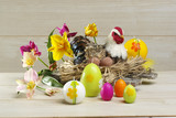 Easter floral and eggs