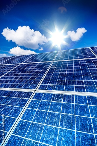 Leinwanddruck Bild Solar Cells