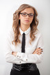 closeup seriously businesswoman portrait