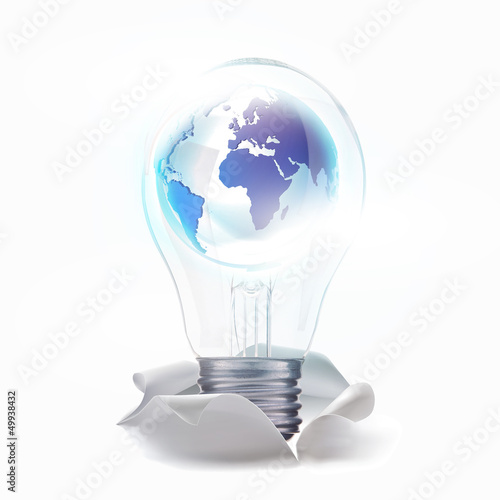 world of fresh idea. With lamp move up from torn paper