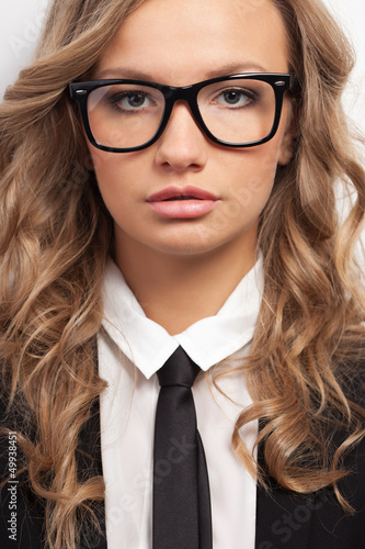 closeup seriously businesswoman portrait