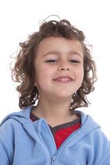kid over white background