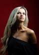 Beautiful blond woman portrait - closeup