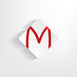 Letter M as a sticker