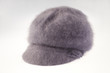 gray woolen hat isolated on white background.
