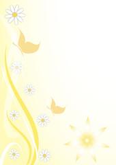 sfodo floreale giallo farfalline