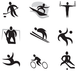Summer and Winter Games Icon Set Number 2 (black)