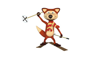 Red Foxes Skier.