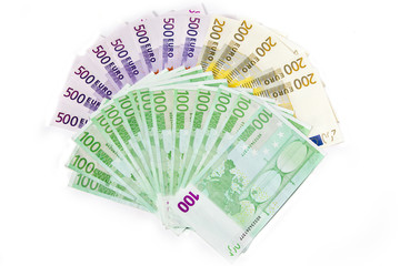 Geldfächer mit Euroscheinen