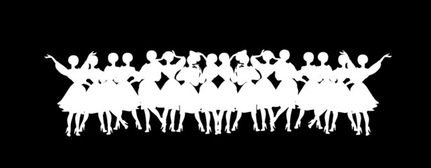 Vintage Title header Woman Silhouette