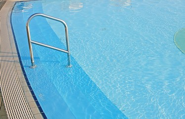 water of the swimming pool for swimming