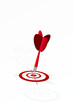 Targets row with red dart on target