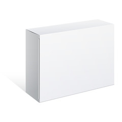White Package Box. For Software, electronic device
