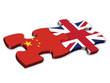 Chinese & UK Flags (China British English jigsaw)