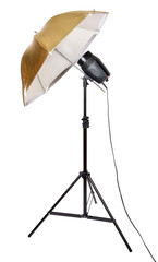 Tripod umbrella studio flash