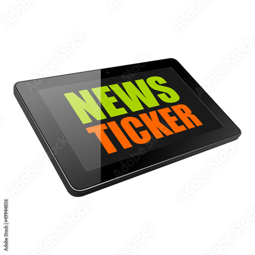 tablet news ticker I
