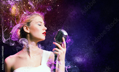 Image of female singer