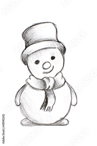 bonhomme de neige noir et blanc