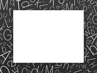 cadre noir et lettres