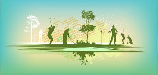 green blot golf club Silhouettes