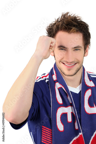 Portrait of a football fan