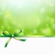 Grüne Schleife mit Bokeh Hintergrund